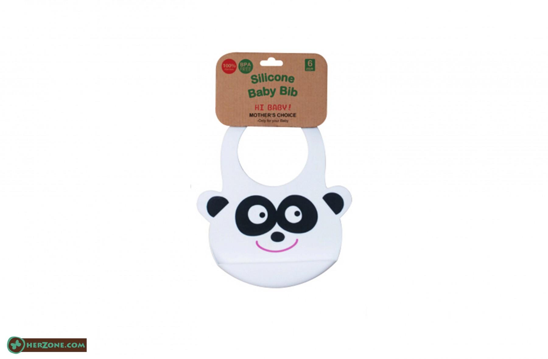 185.Panda Baby bib