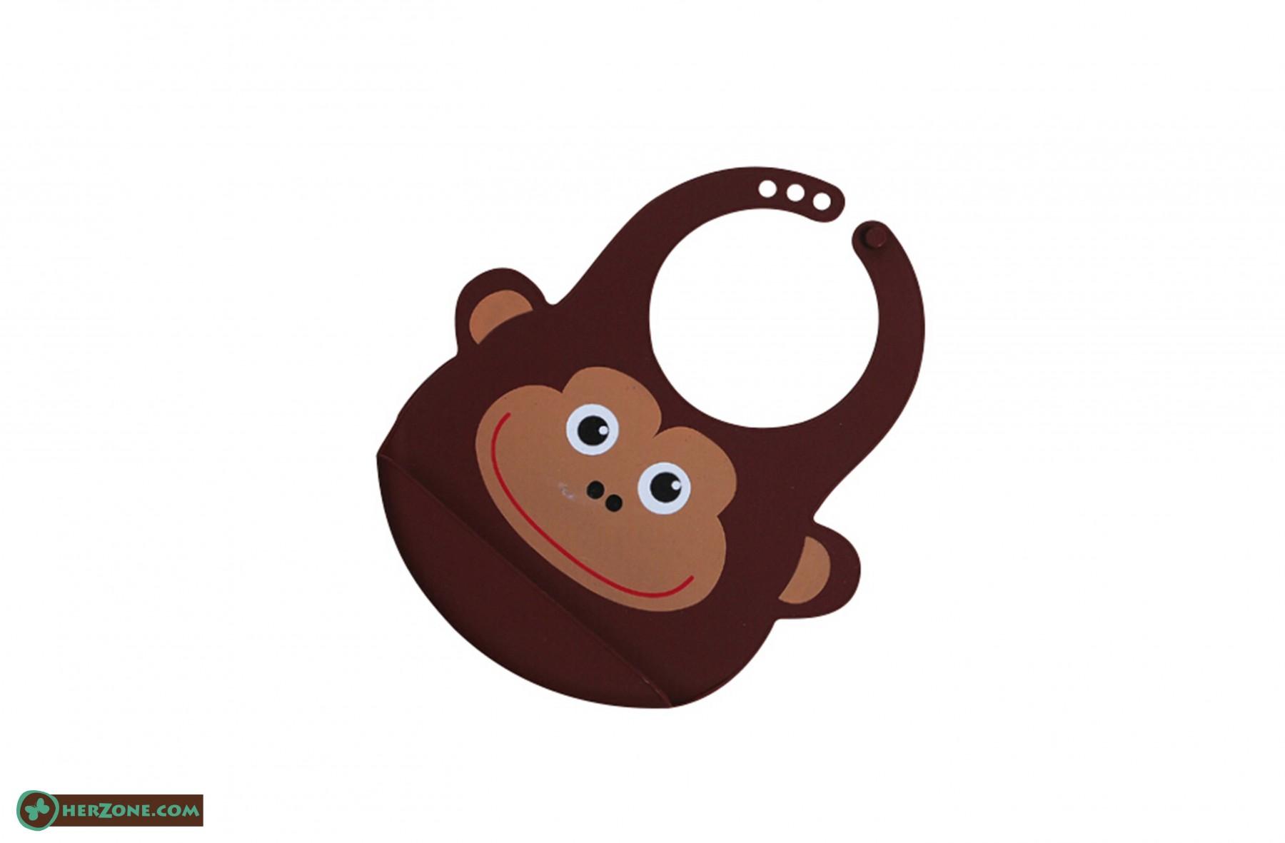 181.Monkey Baby bib
